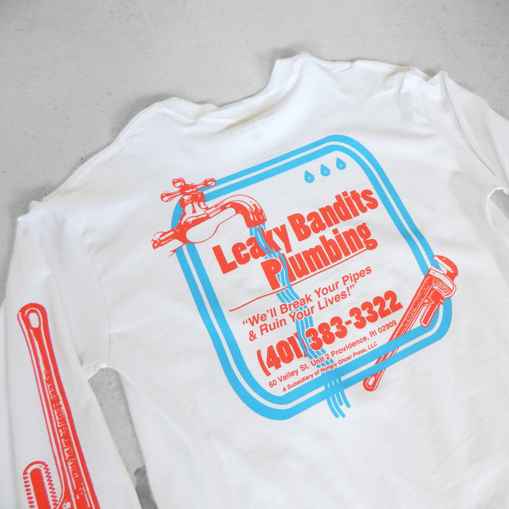 Leaky Bandits White Long Sleeve