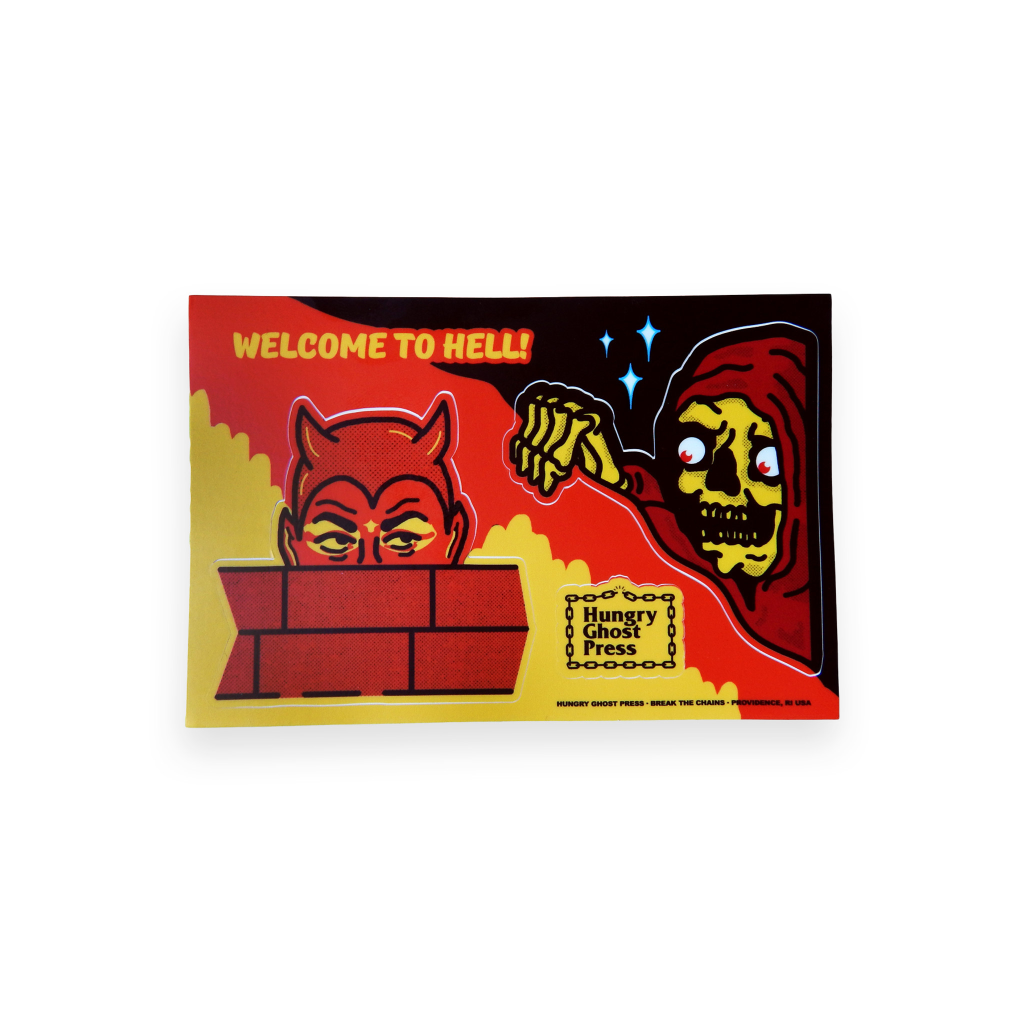 Welcome to Hell Sticker Sheet