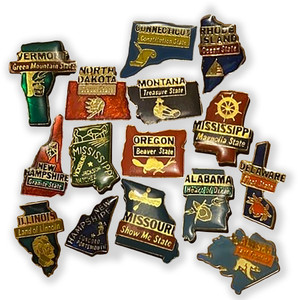 Vintage 50 Nifty States Pins