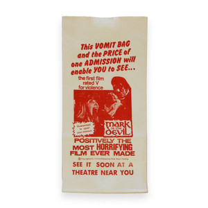 Vintage 'Mark of the Devil' Vomit Bag