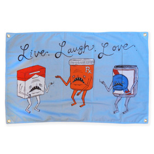Thank You Sean's Live Laugh Love Tapestry