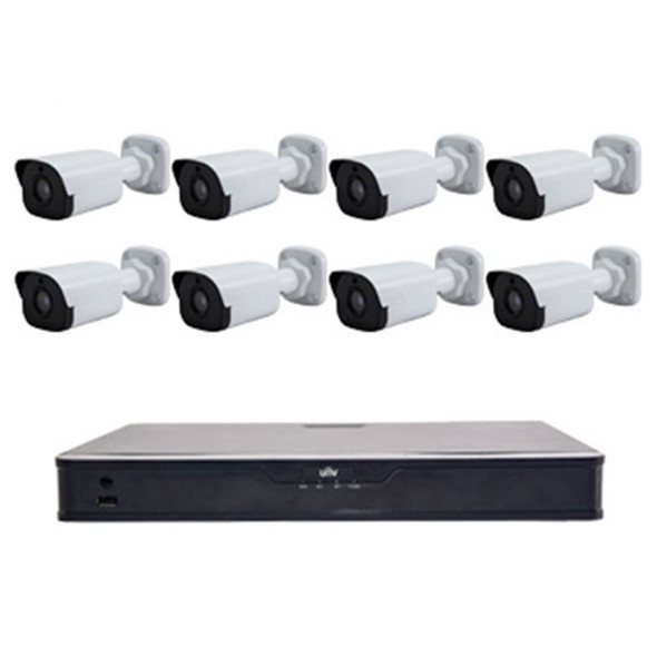 UNV 8 Channel NVR Kit with 2TB HDD and 8 4MP Mini Bullet Network Camera