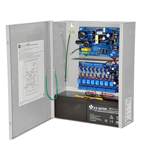 Altronix 8 Outputs, 12/24VDC Access Power Controller w/ Power Supply/Charger