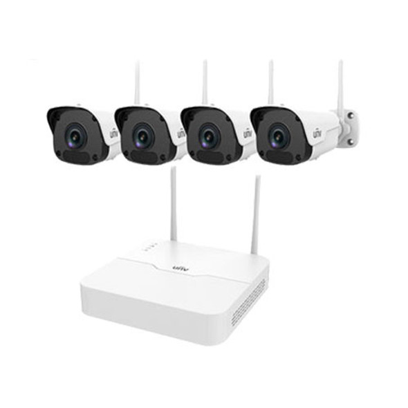 UNV 4 Channel NVR, 2MP Fixed Lens Bullet Camera Kit (Wireless)