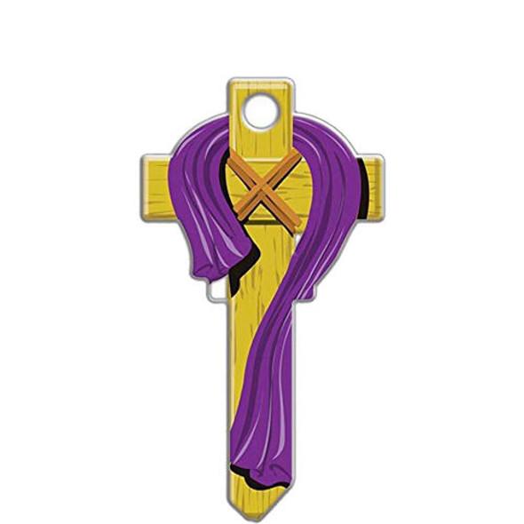 Kwikset KW1 Novelty Keys - Cross With Robe