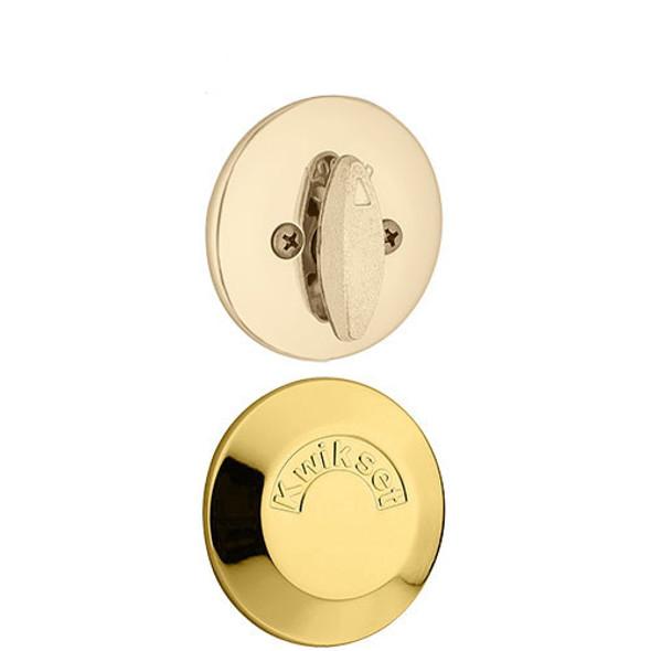 Kwikset Single Deadbolt & Plate - Polished Brass
