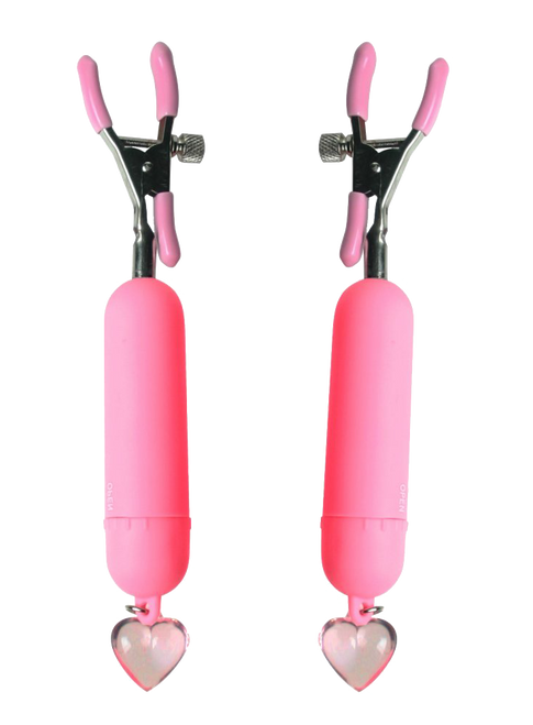 Pink Crush Vibrating Nipple Clamps