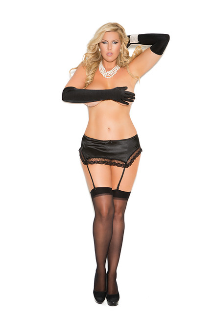 Lacy Satin Garter Belt