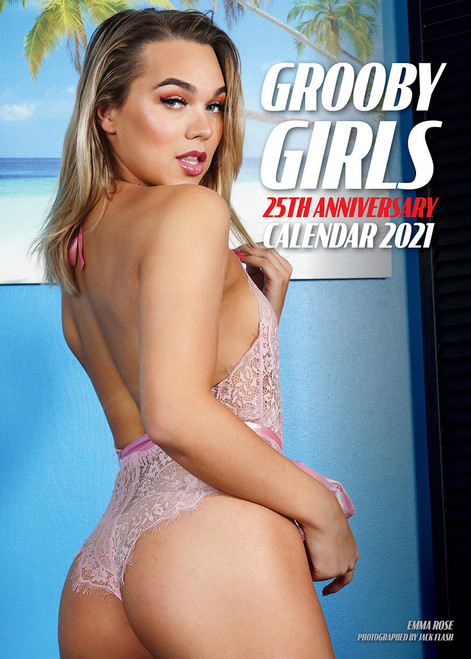 This 25th Anniversary calendar has twice the models to double your pleasure all year long!