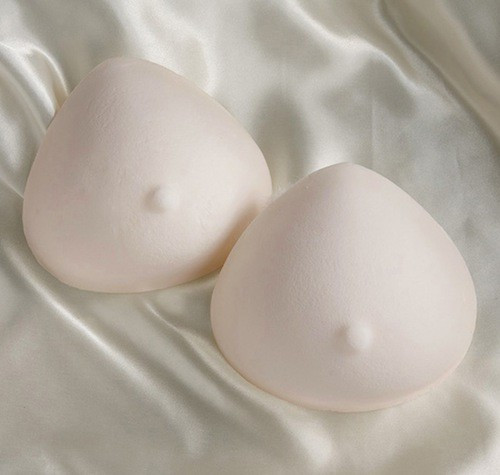 Foam triangle breast forms.