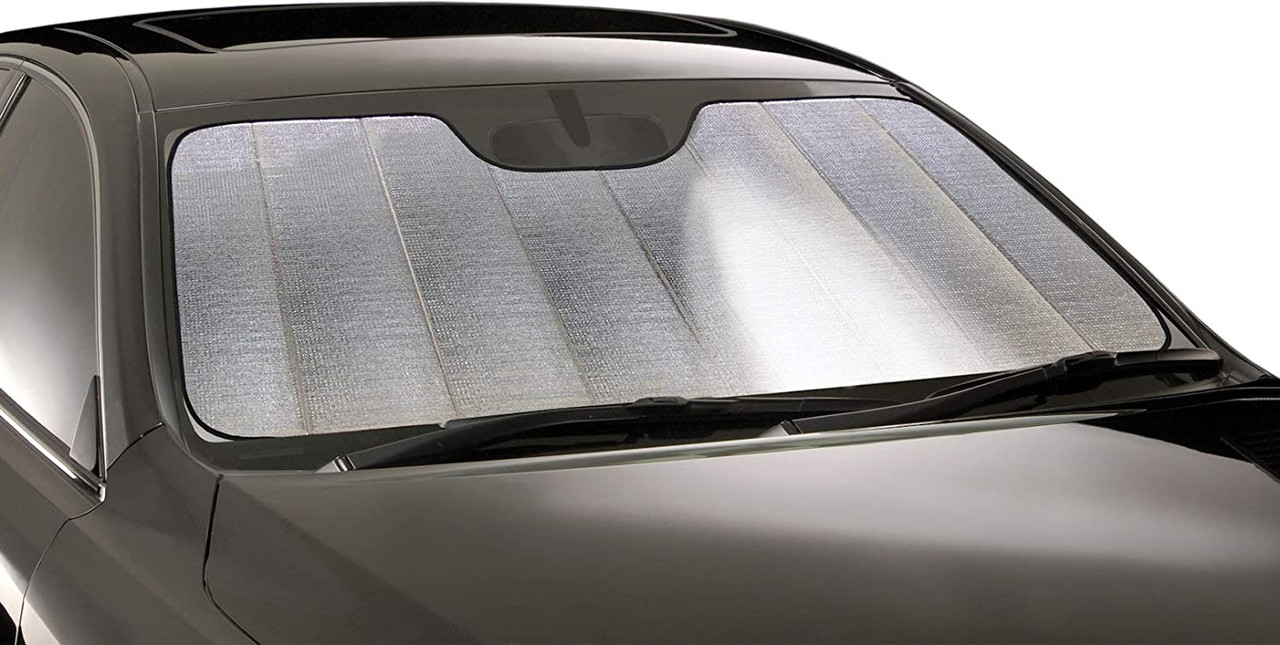 Intro-Tech NS-16-R Ultimate Reflector Custom Fit Folding Windshield Sunshade for Select Nissan 350Z Models Silver