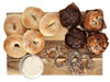 Content:  5 Pack Sesame Bagel 8 oz Cream Cheese 2 Everything Pretzels 2 Blueberry Muffin 2 Double Chocolate Chip Muffin