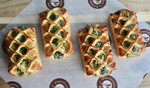 Large Butter Spinach Feta Savory Croissants 4 Pieces