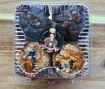 4 pack Assorted Muffins