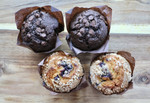 Double Chocolate Chip and Blueberry Muffins