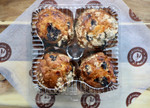 Blueberry Muffins 4 Pack Packed