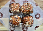Chocolate Chip  Muffins 4 Pack Packed