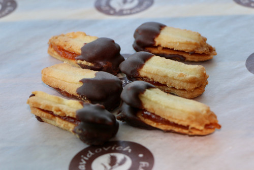 Chocolate Dipped Apricot Filled Cookie 6 Pack