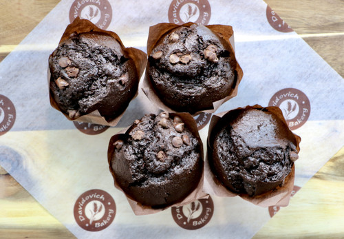Double Chocolate Chip Muffins 4 Pack