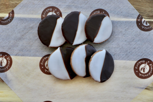 Mini Black and White Cookies
