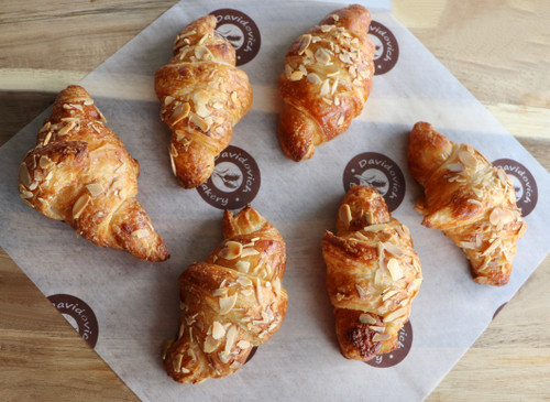 Small Almond French Croissants 6 Pieces