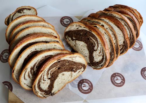 Marble Rye Free Form Bread Loaf
