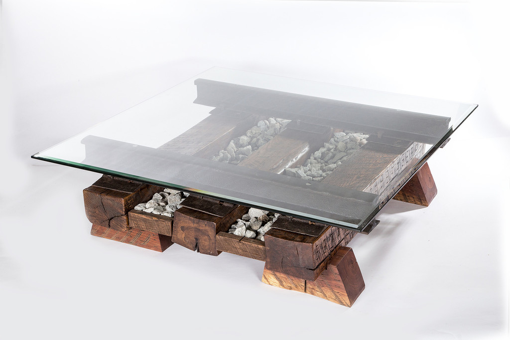 oversize industrial table design for luxury modern interior residence or office