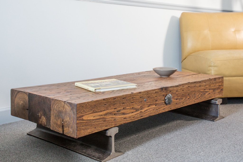 leed-certifiable timber steel coffee table