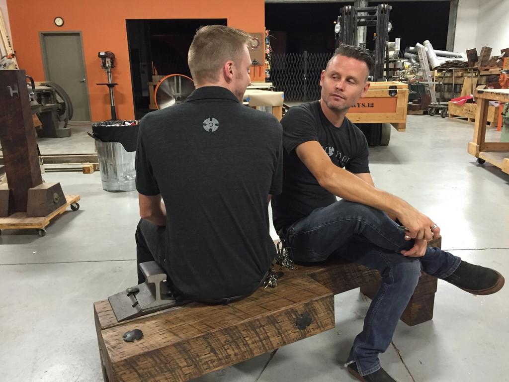 workshop artisan craftsmen timber bench