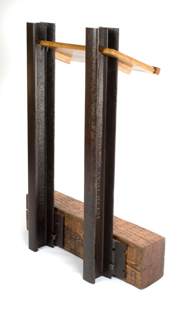 speaker podium lectern industrial reclaimed materials