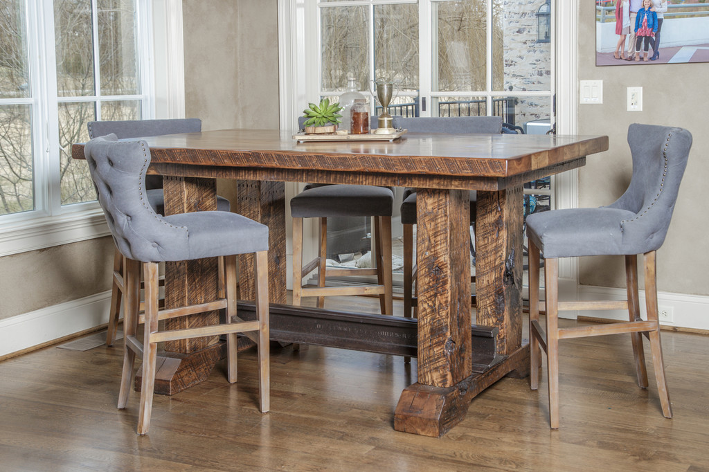 Custom tall standing or bar height kitchen dining table