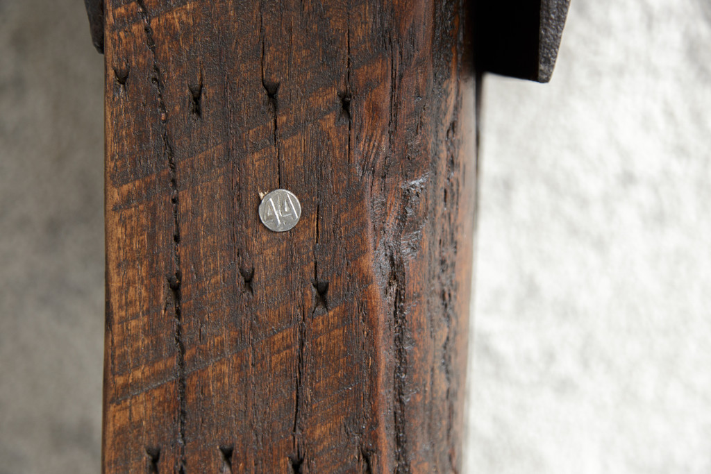 Date nail 44 detail in coffee table