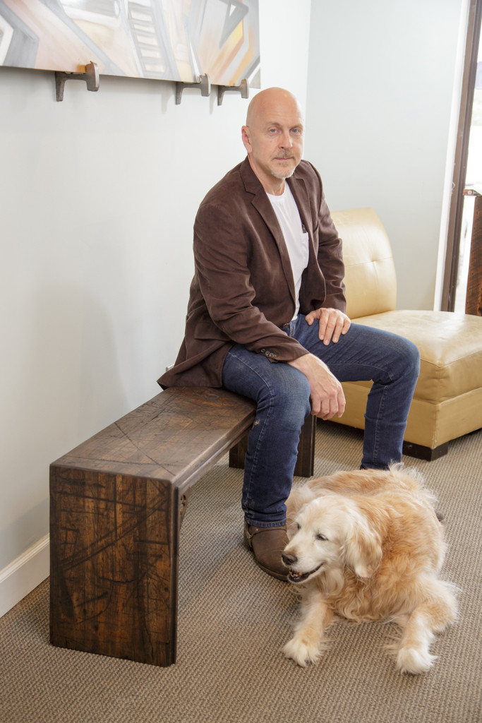 Boxcar flooring bench and founder Robert H>endrick