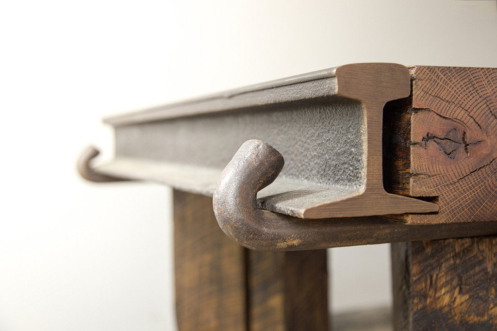 reclaimed iron details from heavy vintage industrial age components