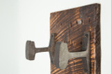 maker's mark coat rack steel hooks rough sawn wood