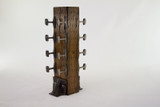 wine rack as seen on uncrate from reclaimed railroad rail and cross tie