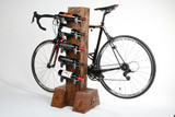 combination wine rack bike rack wood timber luxury enthusiasts safe for carbon, aluminum steel alloy cycles
