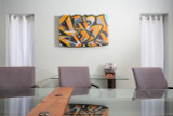 conference room modern graffiti abstract artwork mounted spray paint