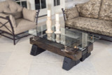 authentic architectural artifact coffee tables in modern industrial style design for commercial office and residential interiors