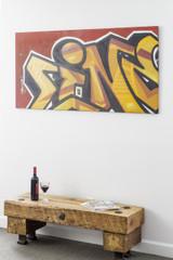 """""""LINE"""" Graffiti on Steel Panel"""