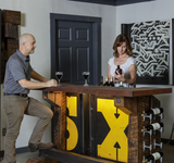Bar with Urban Industrial Style Interior Design