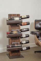 Mid-Century Modern Industrial Style Wine Rack for 9 bottles