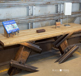 Switchpoint Credenza with Boxcar Flooring Tabletop