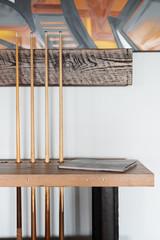 Urban loft luxury console credenza pool cue side table