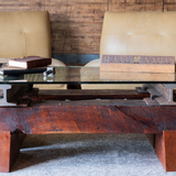industrial modern custom cherry coffee table