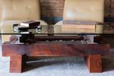 urban interior architecture timber granite steel coffee table