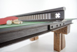 Game table for upscale commercial and residential interiors from reclaimed wood and steel hand-crafted by Rail Yard Studios, Custom Furniture Nashville, Tennessee