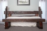 artisan crafted poster bed steel salvaged distressed wood
