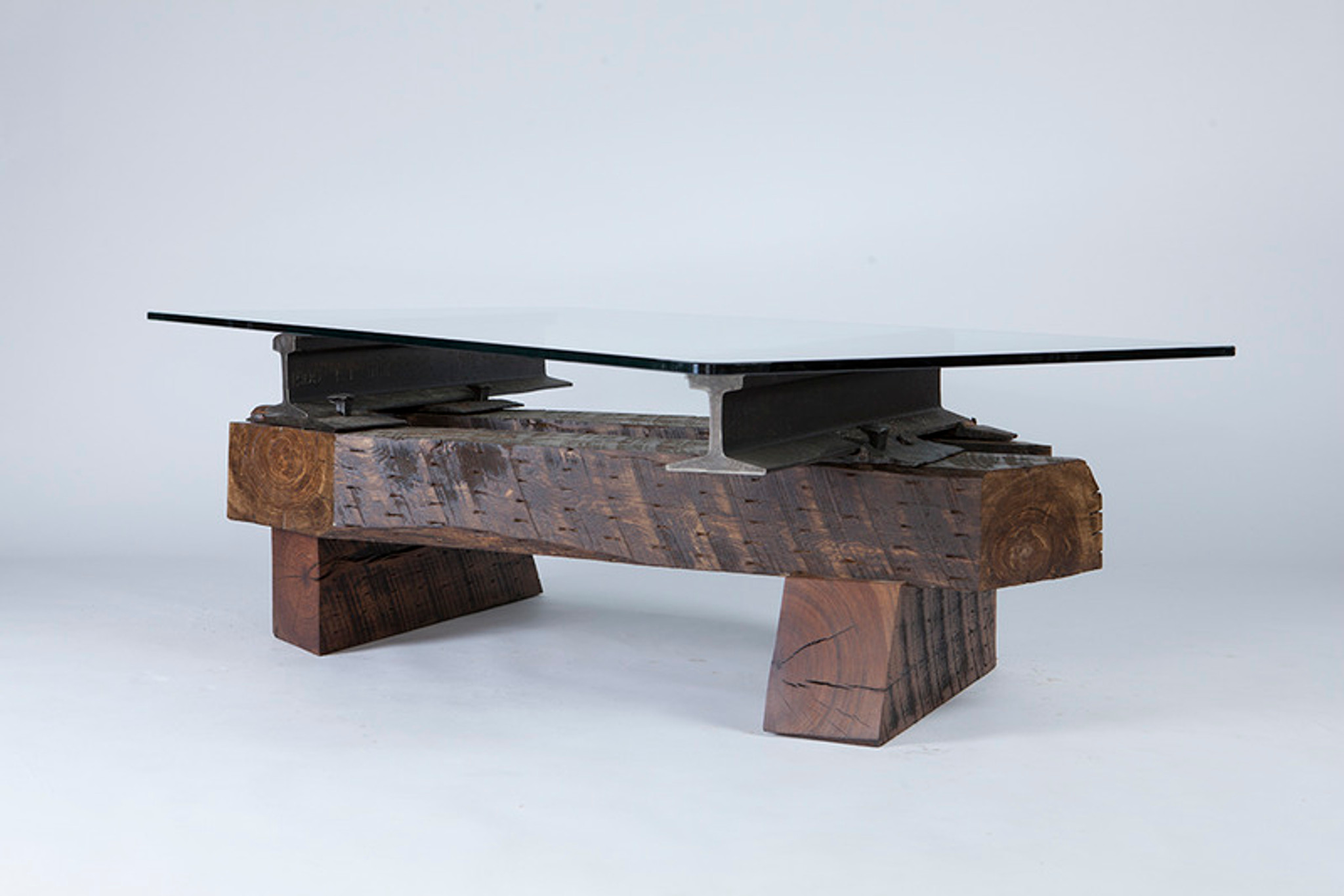 different coffee table reclaimed elements of steel and wood made in america