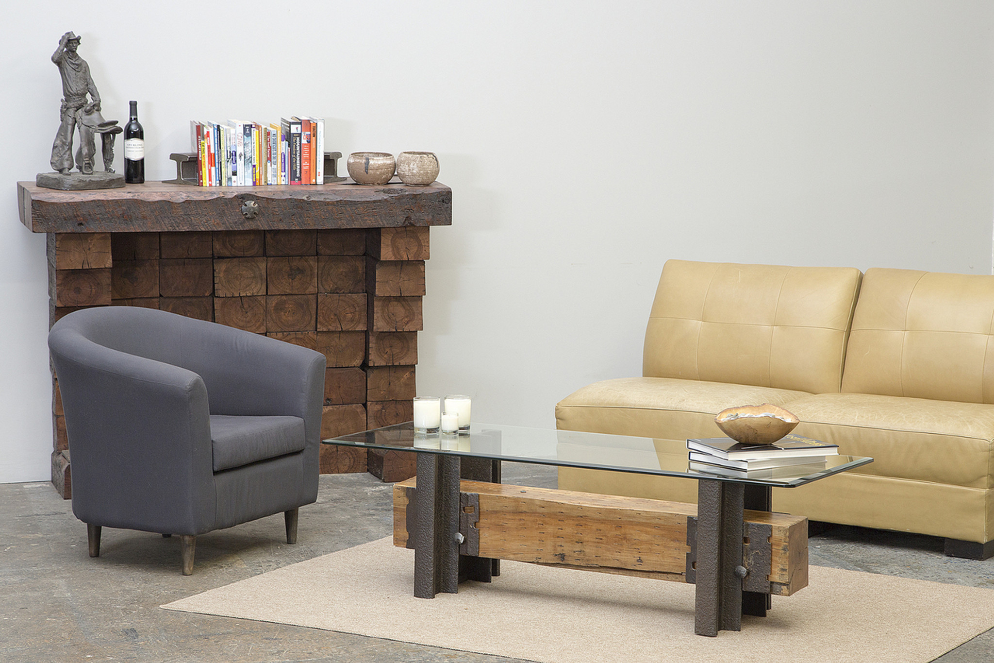 stickley style modern coffee table design from local maple timber and steel reclaimed